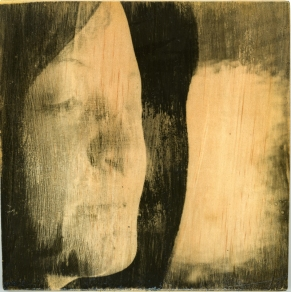 'Untitled' from The Road, silver gelatin print on ply wood, 20x20cm, 2014